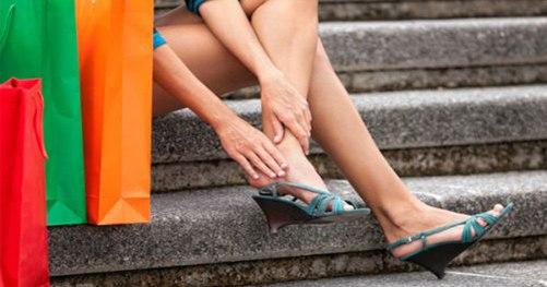 Ушиб пятки у женщин от обуви