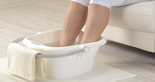 Применение ванночек для пяток